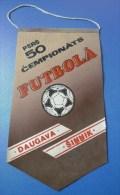 Soviet Union USSR FOOTBALL 50th Championship Flag PENNANT Game Match DAUGAVA Latvia - SHINNIK Yaroslavl - Non Classés