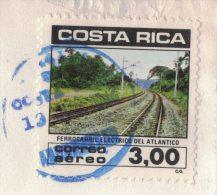 AS58       Costa Rica - 1981 Stamp  Railway Tracks  Ferrocarril Eletrico De Atlantico  - Cover  San Josè To  Austria - Trains
