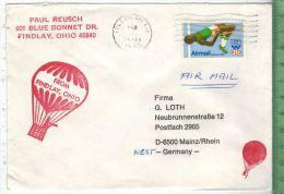 Bedarfsfrankatur, Toledo. OH. 20.FEB. 1980 EF Minr. Brief 18,3 X 9 CmOhne Prüfung, Ohne Oblogio.Zustand: Gut - United States
