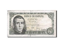 Espagne, 5 Pesetas, 1951, KM:140a, 1951-08-16, TB - [ 3] 1936-1975 : Régence De Franco