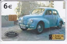 B-108 TARJETA DEL COCHE RENAULT 4/4 DE 6 EUROS (CAR)  NUEVA-MINT EN BLISTER (BAJO FACIAL) - Emissions Basiques