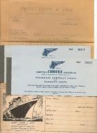 CUBANA De AVIACION - 1958 2 Tickets Sold By THOS. COOK & SON - MIAMI - LA HAVANA - SANTIAGO DE CHILE - BUENOS AIRES - Welt