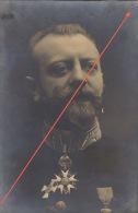 Photo Ancienne Format Carte Militaire Médaille Décoration Au Dos Geruzet Williot Au Crayon - Guerre, Militaire