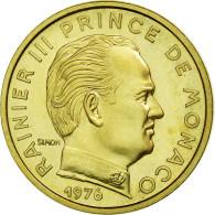Monnaie, Monaco, 5 Centimes, 1976, SUP+, Copper-Aluminum-Nickel, KM:E69 - 1960-2001 Nouveaux Francs