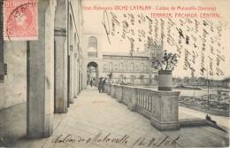 GRAN BALNEARIO VICHY CATALAN - CALDAS DE MALAVELLA ( GERONA ) TERRAZA FACHADA CENTRAL - Gerona