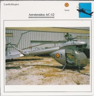 Helikopter.- Helicopter - Aeritecnica AC-12 - Spanje. 2 Scans - Hélicoptères