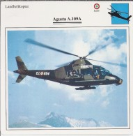 Helikopter.- Augusta A.109A. Italië. 2 Scans - Hélicoptères