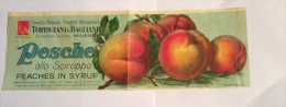 ETICHETTA PESCHE TORRIGIANI & BAGLIANI STAB. SALOMONE ROMA ANNI 50/60 - Fruit En Groenten