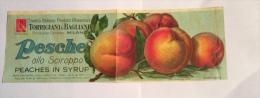 ETICHETTA PESCHE TORRIGIANI & BAGLIANI STAB. SALOMONE ROMA ANNI 50/60 - Frutta E Verdura