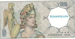 BILLET ECHANTILLON MINERVE MONNAIE - Specimen