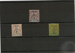 NOUVELLE CALÉDONIE Année 1903  N°Y/T : 81 Sans Gomme, 82*, 86 Sans Gomme - Unused Stamps