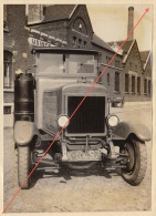 Photo Ancienne Automobile Camion PIPE Bruxelles Gazogène - Automobile