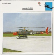Helikopter.- Helicopter - Augusta A.106 -. Italië. 2 Scans - Helikopters