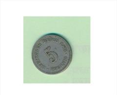 Numismatique - A754 -Allemagne -  5 Pfennig  1900 ( Type, Nature, Valeur, état... Voir Double Scan) - [ 2] 1871-1918 : German Empire
