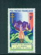 Polynesie, 1971, De Gaulle Monument, MNH, Michel 127, French Polynesia - Polynésie Française