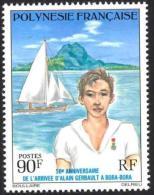 Polynesie, 1976, Gerbault, Sailing, MNH, Michel 216, French Polynesia - Polynésie Française