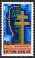 Polynesie, 1977, De Gaulle Monument, MNH, Michel 237, French Polynesia - Polynésie Française