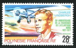 Polynesie, 1977, Charles Lindbergh, Aviation, Airplane, MNH, Michel 239, French Polynesia - Polynésie Française