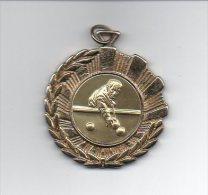 882 I ) Belle Medaille  Billard - 45mm - 22grs Environ - Billares