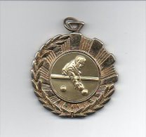 882 I ) Belle Medaille  Billard - 45mm - 22grs Environ - Billiards