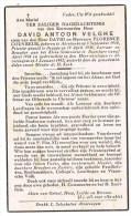 Adinkerke - Roeselare - Alveringem : Eerwaarden Heer David Antoon Velghe; 1942 ( 2 Scans) - Images Religieuses