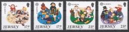 Jersey 1989 Mi# 476-79** EUROPA CEPT, CHILDREN'S GAMES - Jersey
