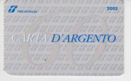 CARTA D'ARGENTO ORD. N. 83 DEL 12-02 - Week-en Maandabonnementen