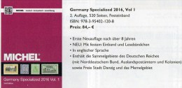 MICHEL Part 1 Germany Specialized 2015 Neu 84€ Deutsches Reich Danzig Memel Stamps To 1945 Special Catalogue Old Germany - Old Paper