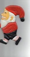 PERE  NOEL En METAL à Fixer En Décoration Sur Un Mur, Poutre , Jardin Etc...  Poids 740 Grammes (2 Trous Fixations) - Weihnachtsmänner