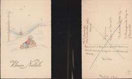 4057) AUGURALE BUON NATALE BAMBINO SU SLITTINO NON VIAGGIATA 1942 - Non Classificati
