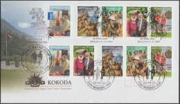Australie Michel 3366 à 3370 Et PNG 1531 à 1535. 2010. Kokoda, Victoire Sur Les Troupes Japonaises. FDC émission Commune - Joint Issues