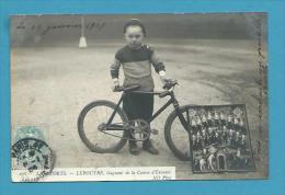 CPA PHOTO 278 - LES SPORTS Cyclisme Cycliste LEPOUTRE Gagant De La Course D'enfant - Cyclisme