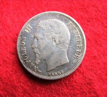 50 Centimes Napoléon III Tête Nue 1854 A - Francia