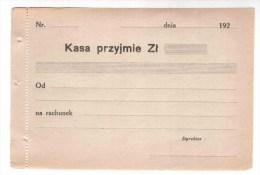 Poland / Check Poland Form 1920 - Poland