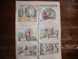 - IMAGERIE PELLERIN EPINAL N°3061 Fables De La Fontaine 390mm X 290mm Le Geai Paré Des Plumes Du Paon. - Autres
