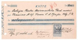 Receipts Riga / Latvia 1936 - Lettonie