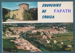 11-COUIZA-Multivues-lot De 2 Cartes-blasons, Château,divers Aspects- Non écrite -4 Scans- 10.5 X 15 - - Postcards
