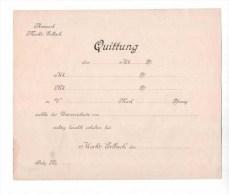 Receipt Form Germany Erbach Year 19__ - [ 2] 1871-1918 : Impero Tedesco