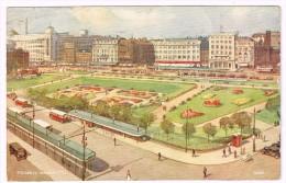 I3703 Manchester - Piccadilly - Illustration Illustrazione / Viaggiata 1949 - Manchester