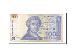 Croatie, 1000 Dinara, 1991, KM:22a, 1991-10-08, TB+ - Croatie
