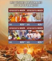 NIGER 2015 - Pope Francis, T. Mahadeva. Official Issue - Buddhism