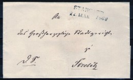 Stargard 22. MAR. 1862 Auf Brief Nach Strelitz - Geprüft - Mecklenburg-Strelitz