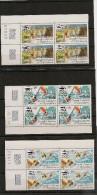 NOUVELLE CALÉDONIE Année 1984 P.A. N°Y/T :240/242** Bloc De 4  Coin Daté Côte: 58,50 € - Poste Aérienne