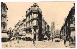 I3715 Gand Gent - Coin Des Rues De Brabant Et De Flandre - Tram / Non Viaggiata - Gent