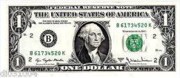 Etats UNIS AMERIQUE USA Billet 1 $ Dollar 1977A B NEW YORK NEUF UNC - Banknoten