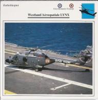 Helikopter.- Westland / Aérospatiale - LYNX - Groot-Brittannië. Engeland - Frankrijk. 2 Scans - Helikopters