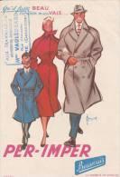 """Per-Imper  - Cachet Magasin """"aux Travailleurs""""  - Vaulegeard -  Vire Calvados  - Format 13,5 X 19,5  Cm - Textile & Clothing"""