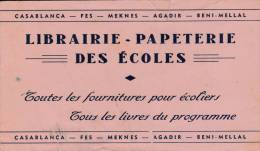 Papeterie Des écoles  Casablanca  - Maroc  - Format  12,5 X 21,5 Cm 2 Scan - Cartoleria
