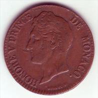 - MONACO - Honoré V Prince De Monaco - 5 Centimes 1837 MC - - Mónaco