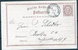 PK Aus Brandenburg A. D. Havel 3.6.1874 Nach Berlin - Entiers Postaux